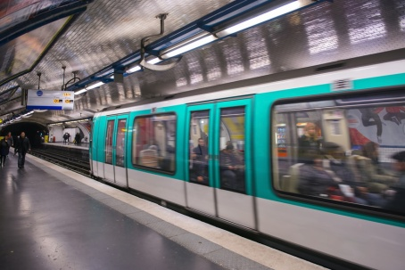 The subway train in Paris